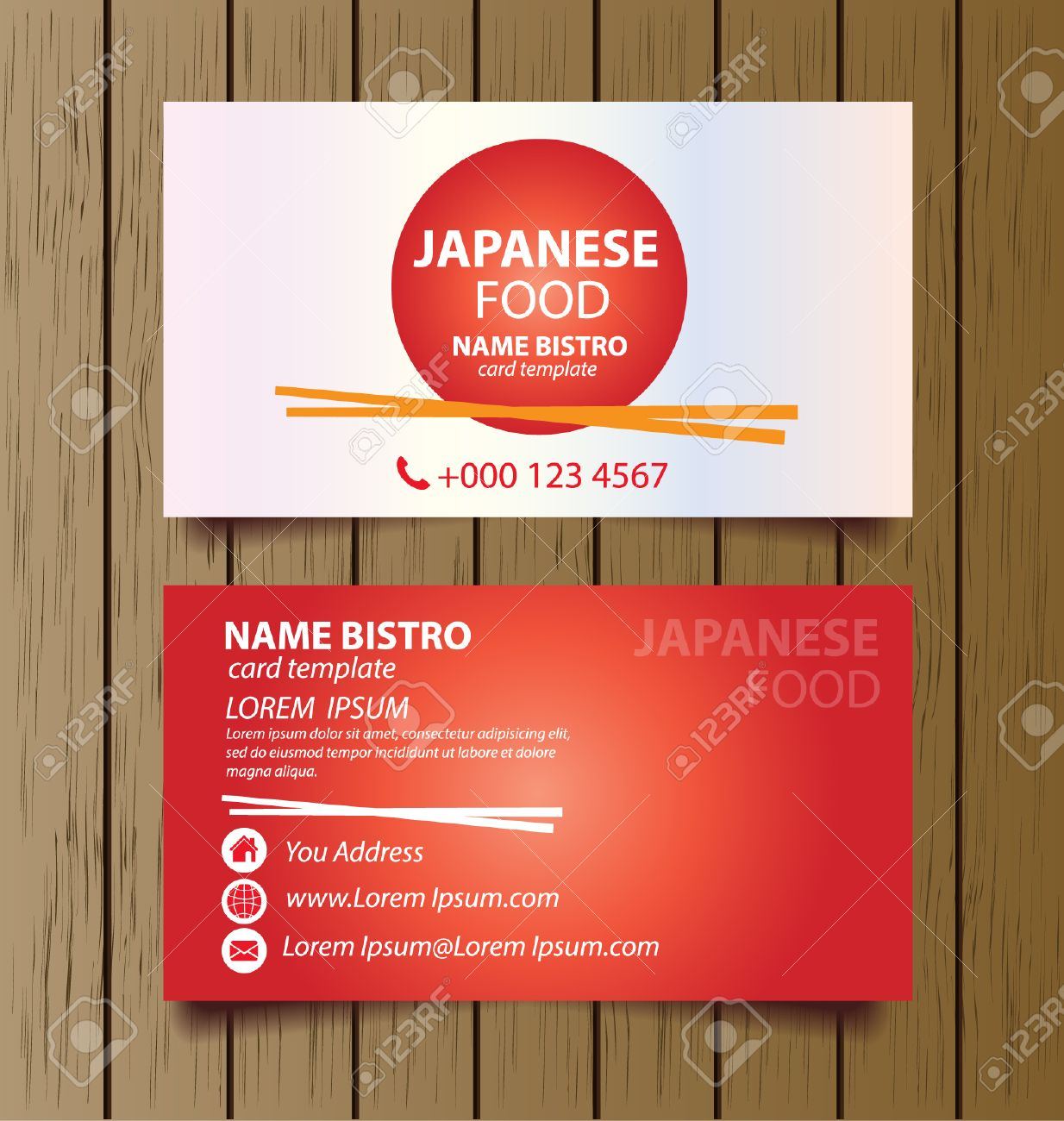 Modele De Carte Visite Pour Le Vecteur Daffaires Restaurant