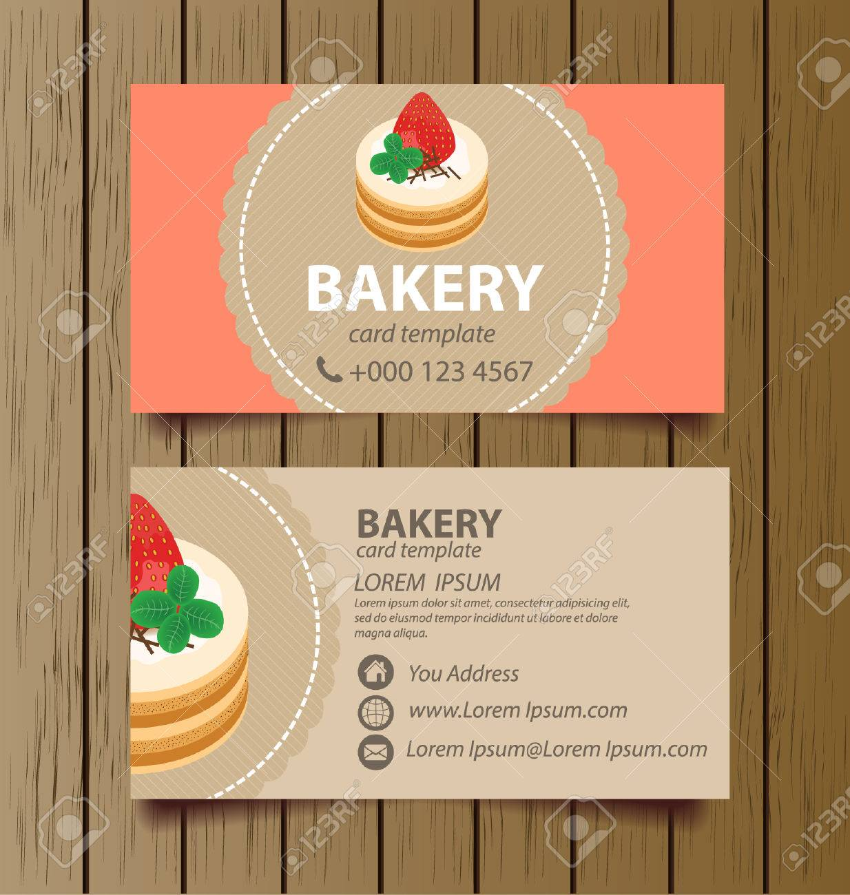 Business card template for bakery business vector illustration banco de imagens business card template for bakery business vector illustration reheart Gallery