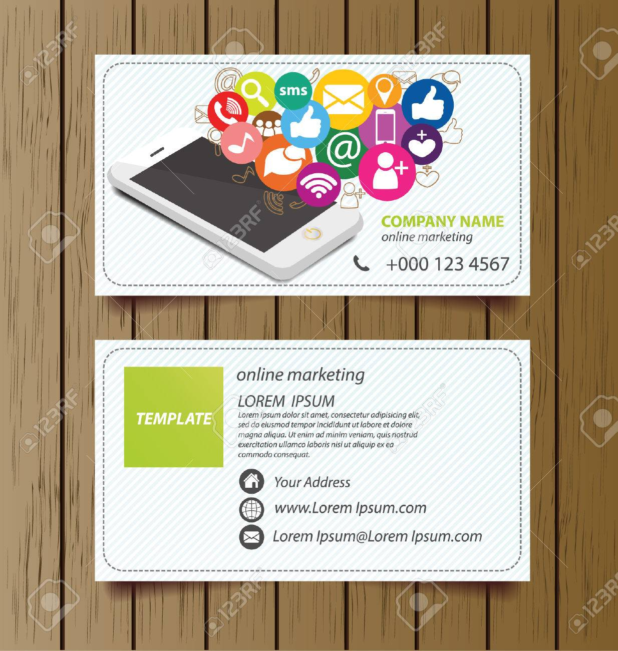 Business Card Template For Online Marketing Vector Royalty Free Cliparts Vectors And Stock Illustration Image 28388474