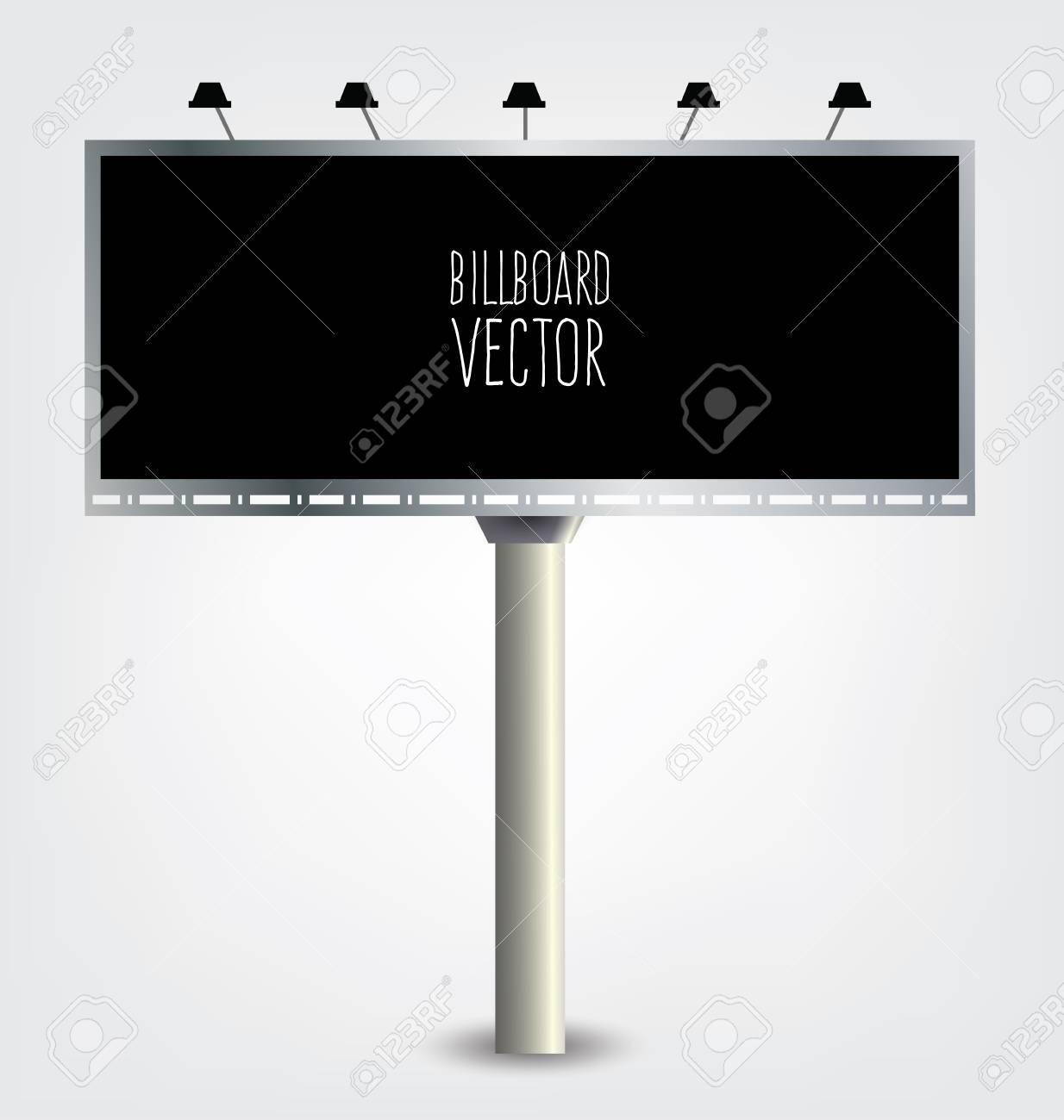 Billboard Template Outdoor Advertising Vector Illustration Royalty