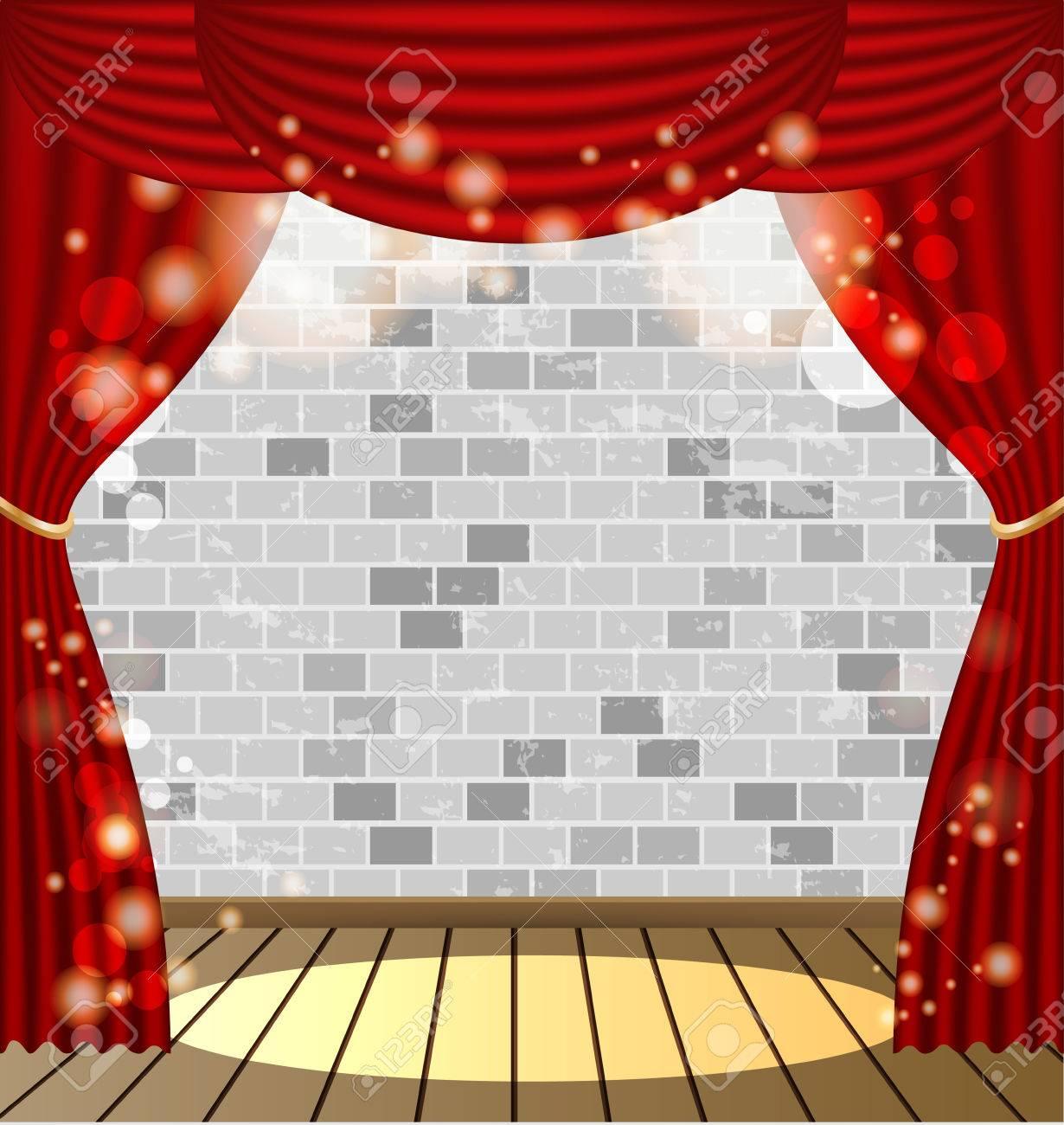 cortinas rojas de fondo vector foto de archivo