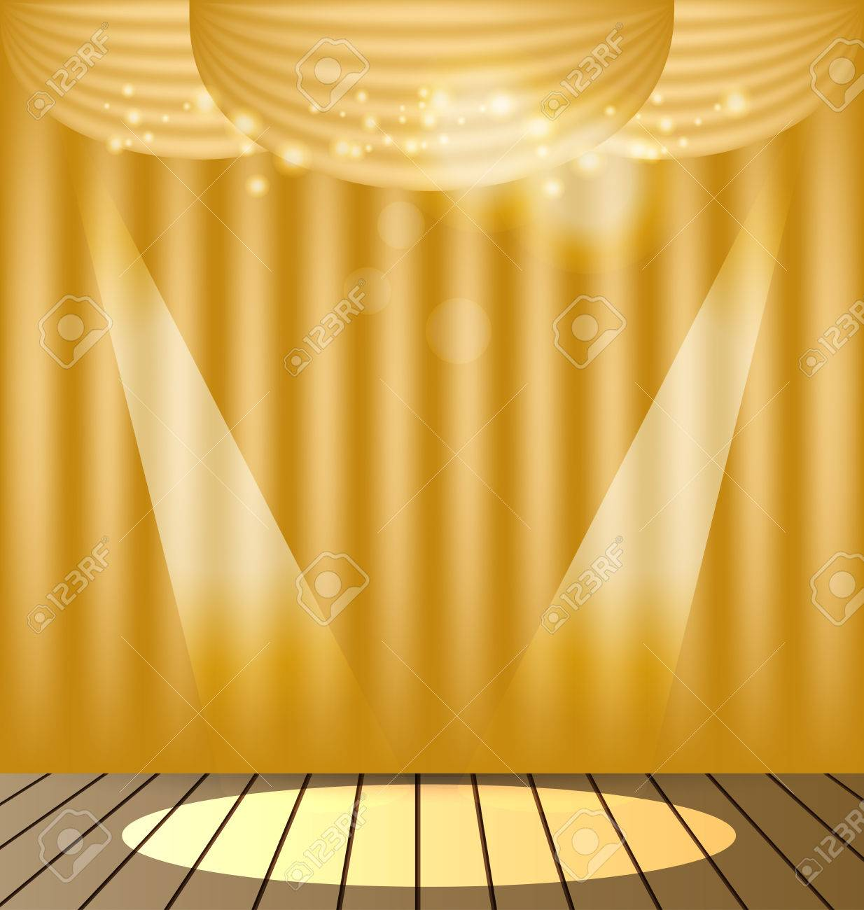 Gold Curtains Vector Background Royalty Free Cliparts, Vectors, And ... for Gold Curtains Background  587fsj