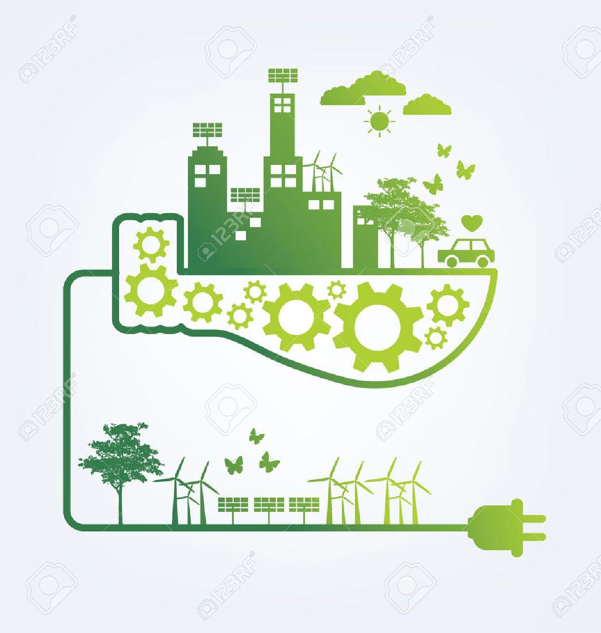 Ecology concept. save world vector illustration. - 40615644