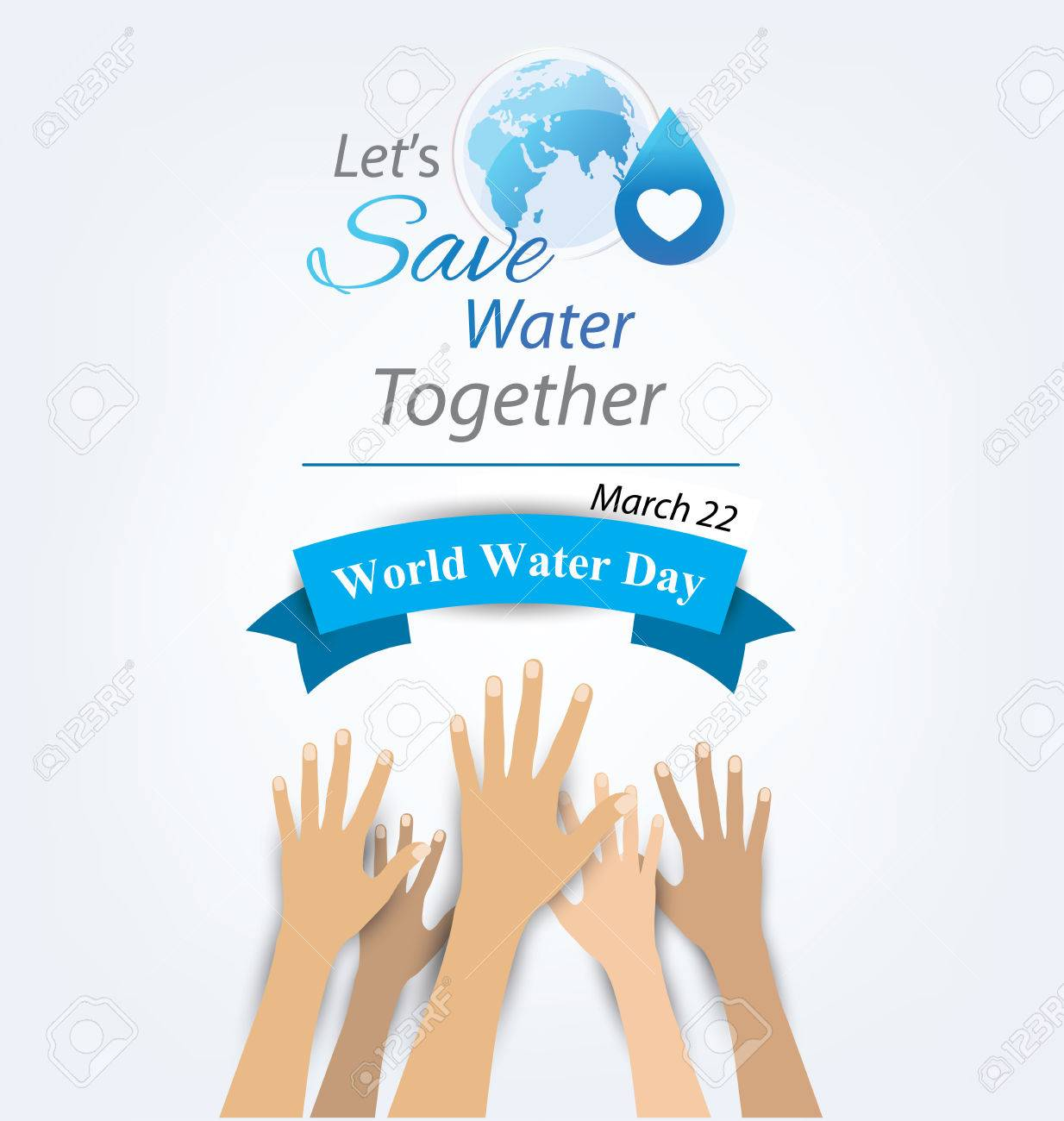 World Water Day concept. Vector illustration. - 45437638