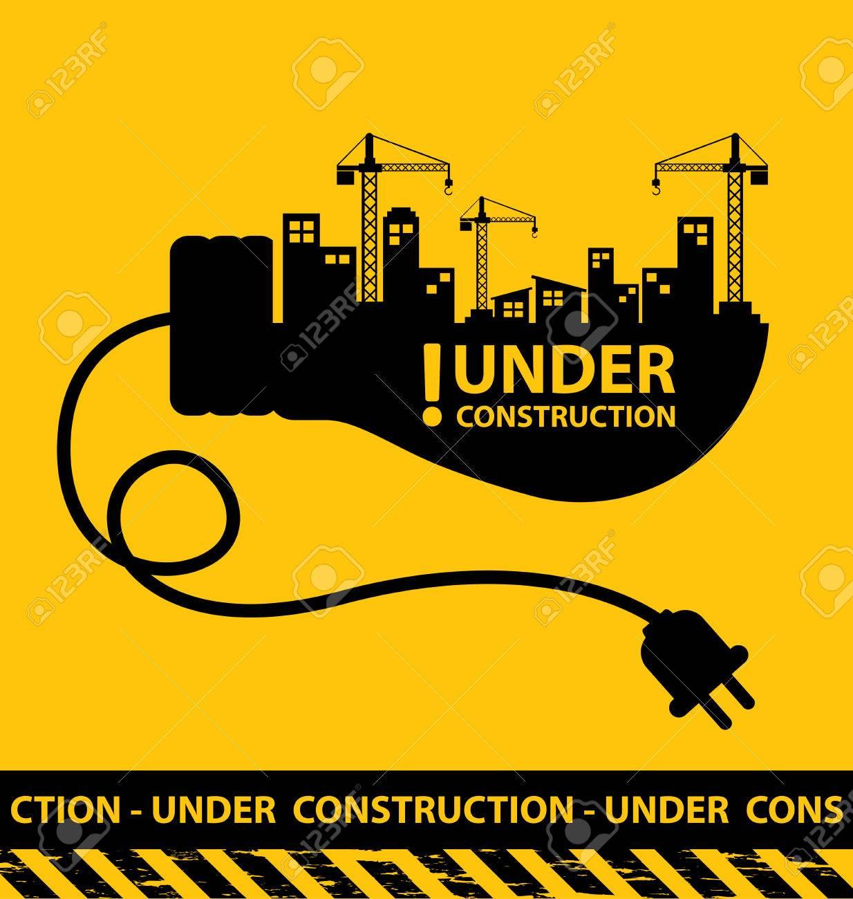 under construction background vector illustration - 45878065