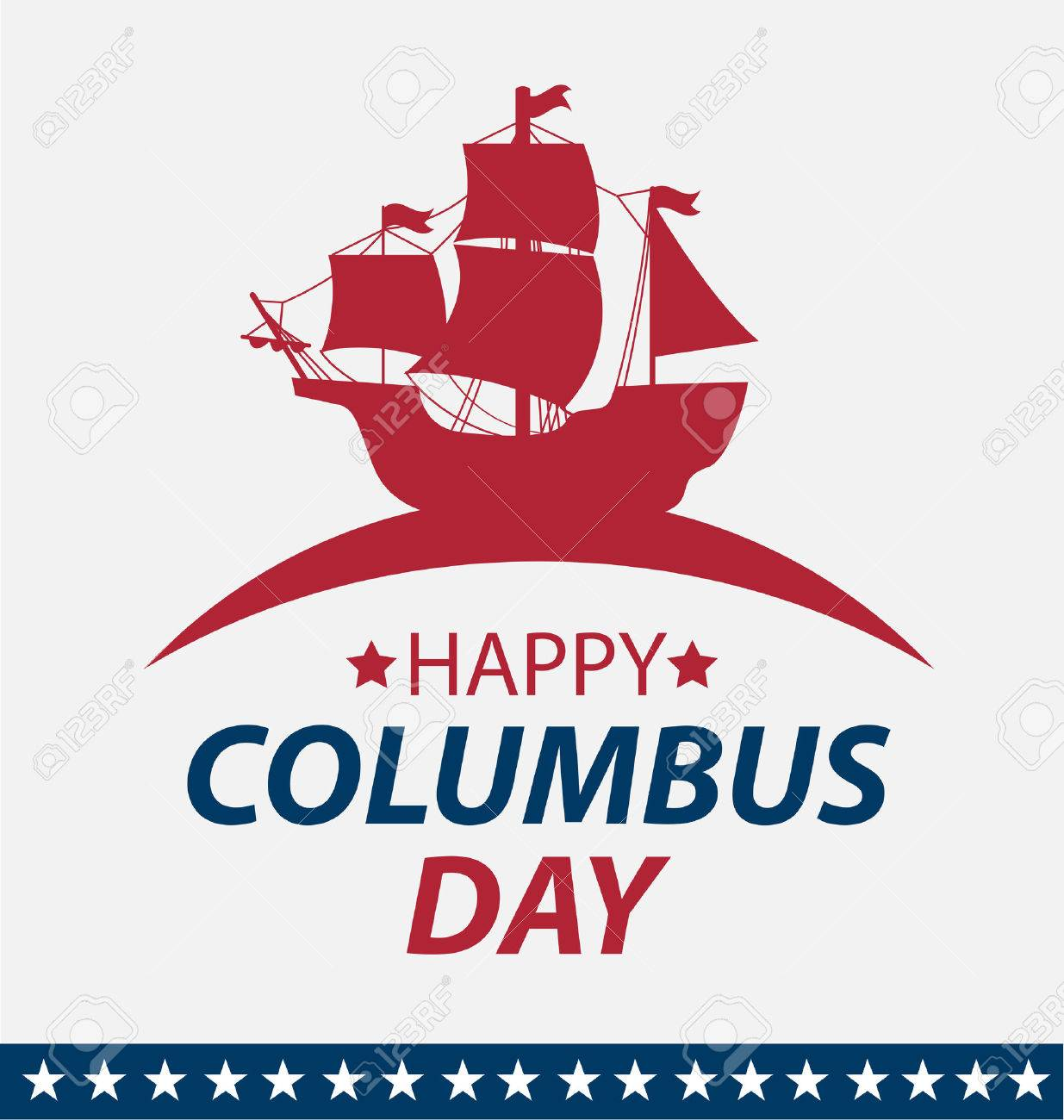 Vector illustration Columbus Day. - 45878154