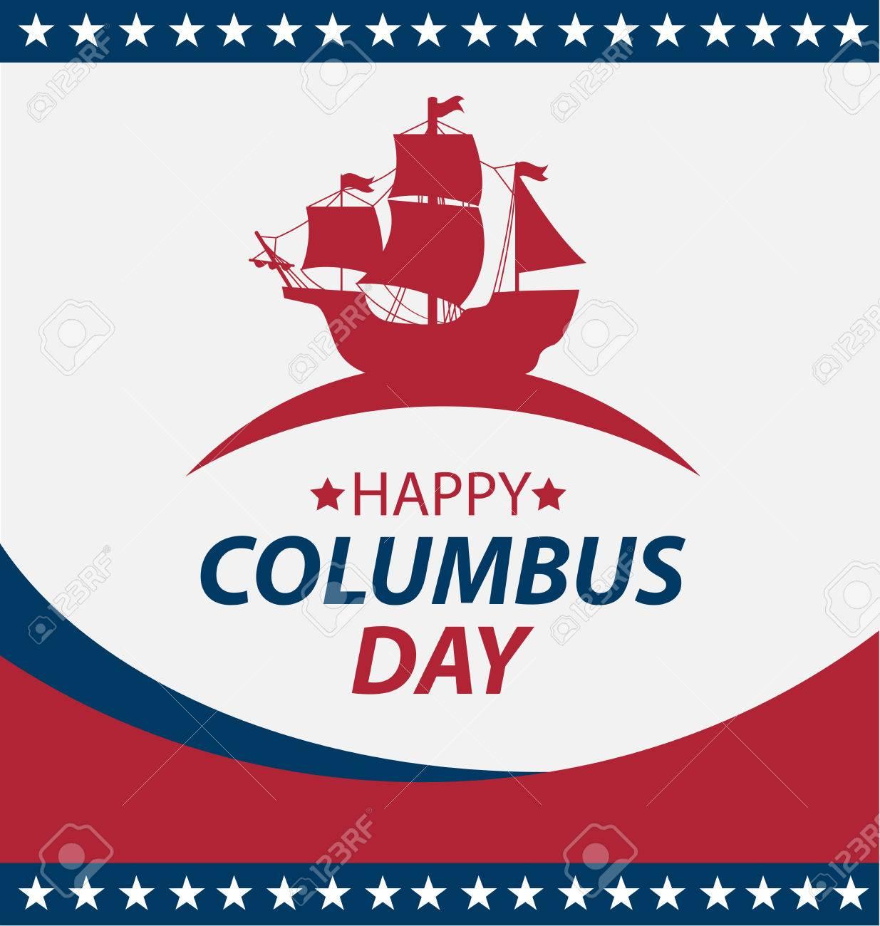 Vector illustration Columbus Day. - 45878156