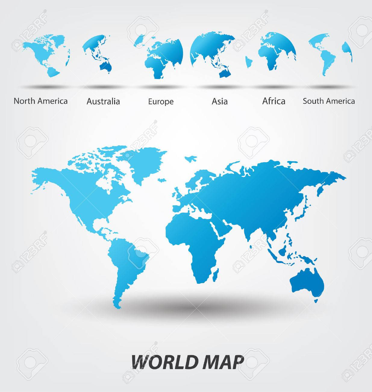 World Map Vector Illustration Royalty Free Cliparts Vectors And - Usa map north south east west
