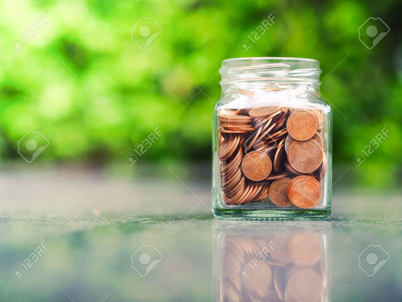 Saving Money for prepare in the future. Saving money concept. - 133804722