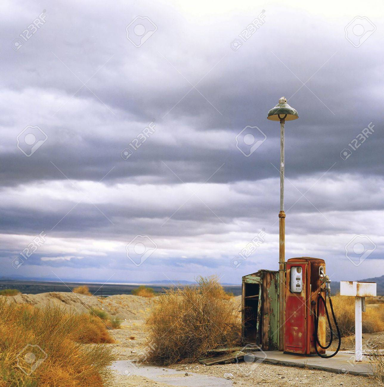 Gas station at a ghost town on route 66 in the U.S.A. - 3801508