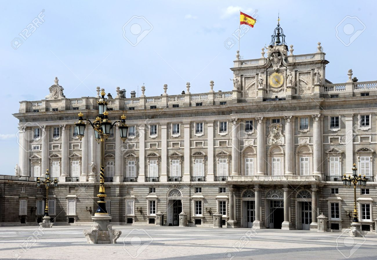 the royal palace of the king of spain in madrid europe with stock