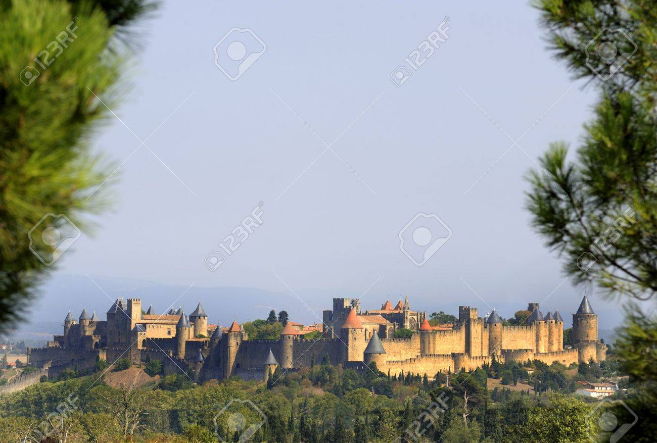 The Walled City of Carcassonne (SW of France) is known first and foremost as a fortified medieval town. - 5683800