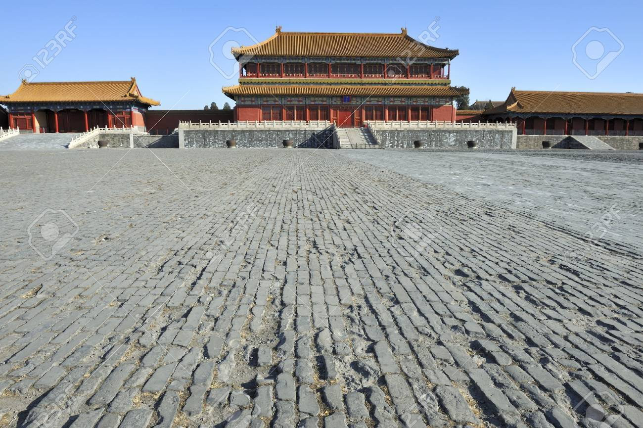 The Majestic Forbidden City in Beijing China. Stock Photo - 8457869