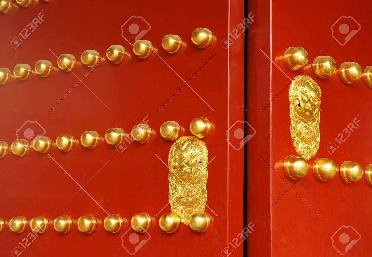 Chinese gate as seen in the Forbidden City and the Temple of Heaven in Beijing - 8457863