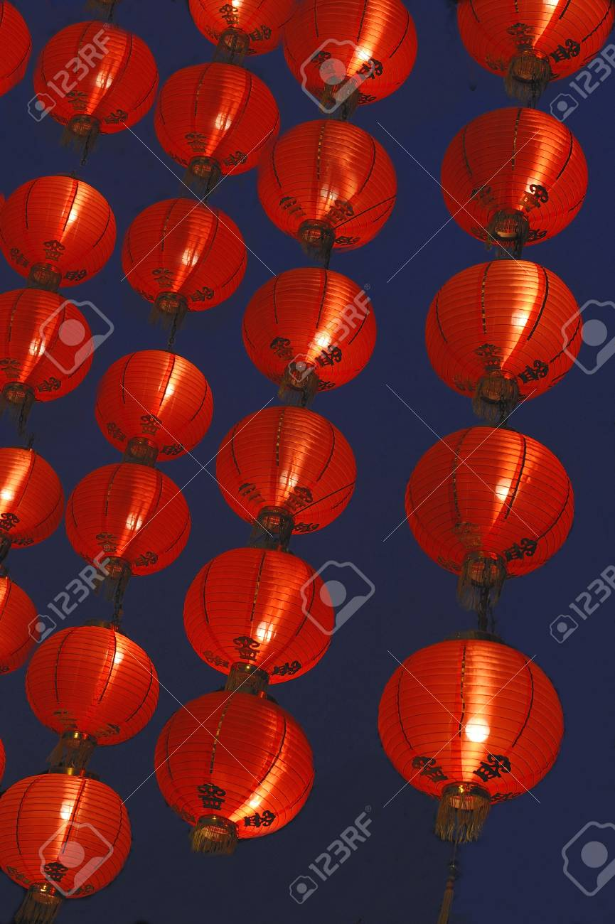 Chinese red paper lanterns. Stock Photo - 8472494
