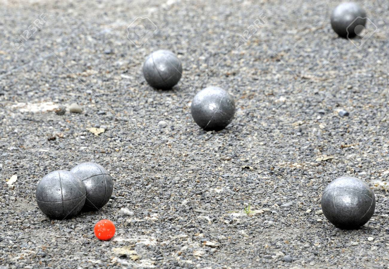 playing jeu de boules or also called petanque in france thisplaying jeu de boules or also called petanque in france this play is played at