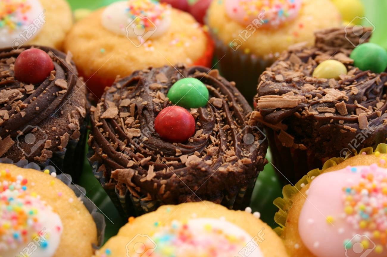Cup Cakes in Vanilla and chocolate Stock Photo - 1404852