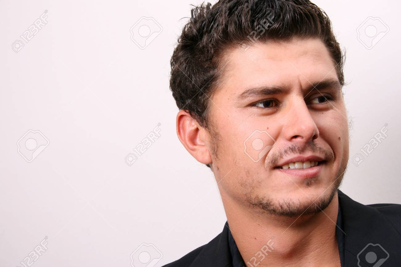 Male model in studio against white wall Stock Photo - 2404476
