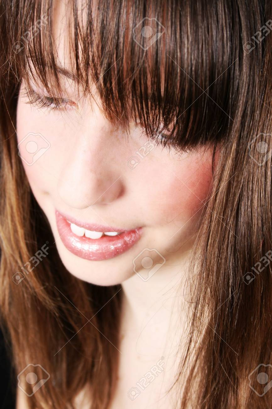 Close up of a teen model with beautiful blue eyes Stock Photo - 5555716