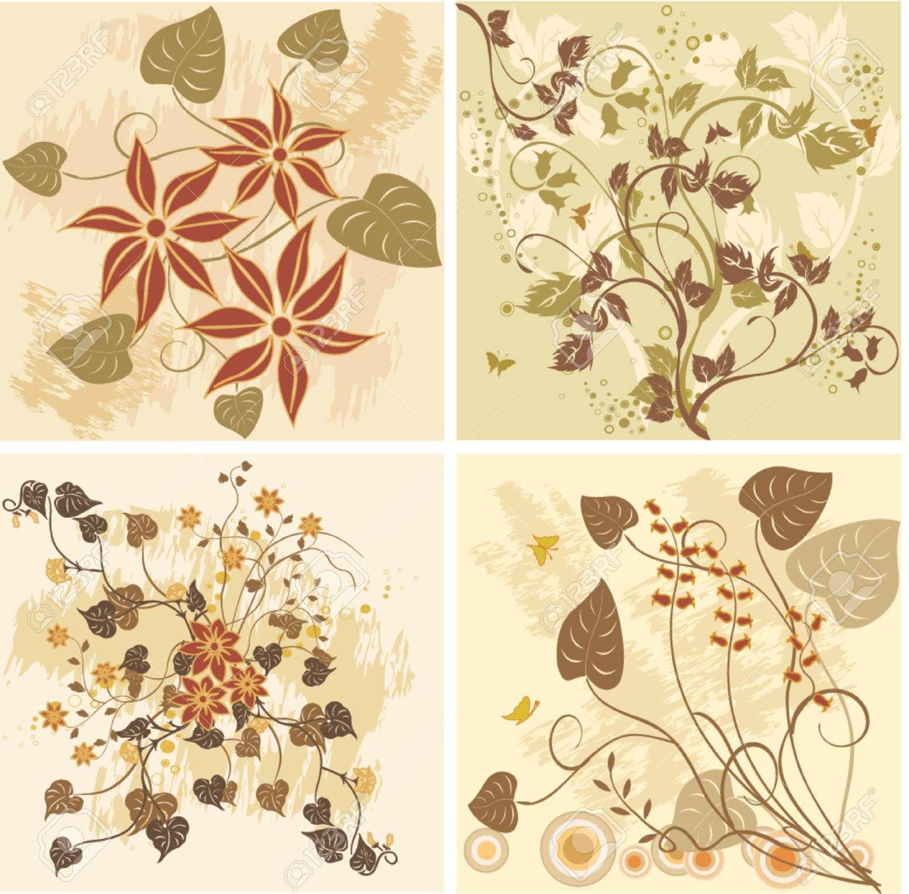 Floral Backgrounds - vector Stock Vector - 902988