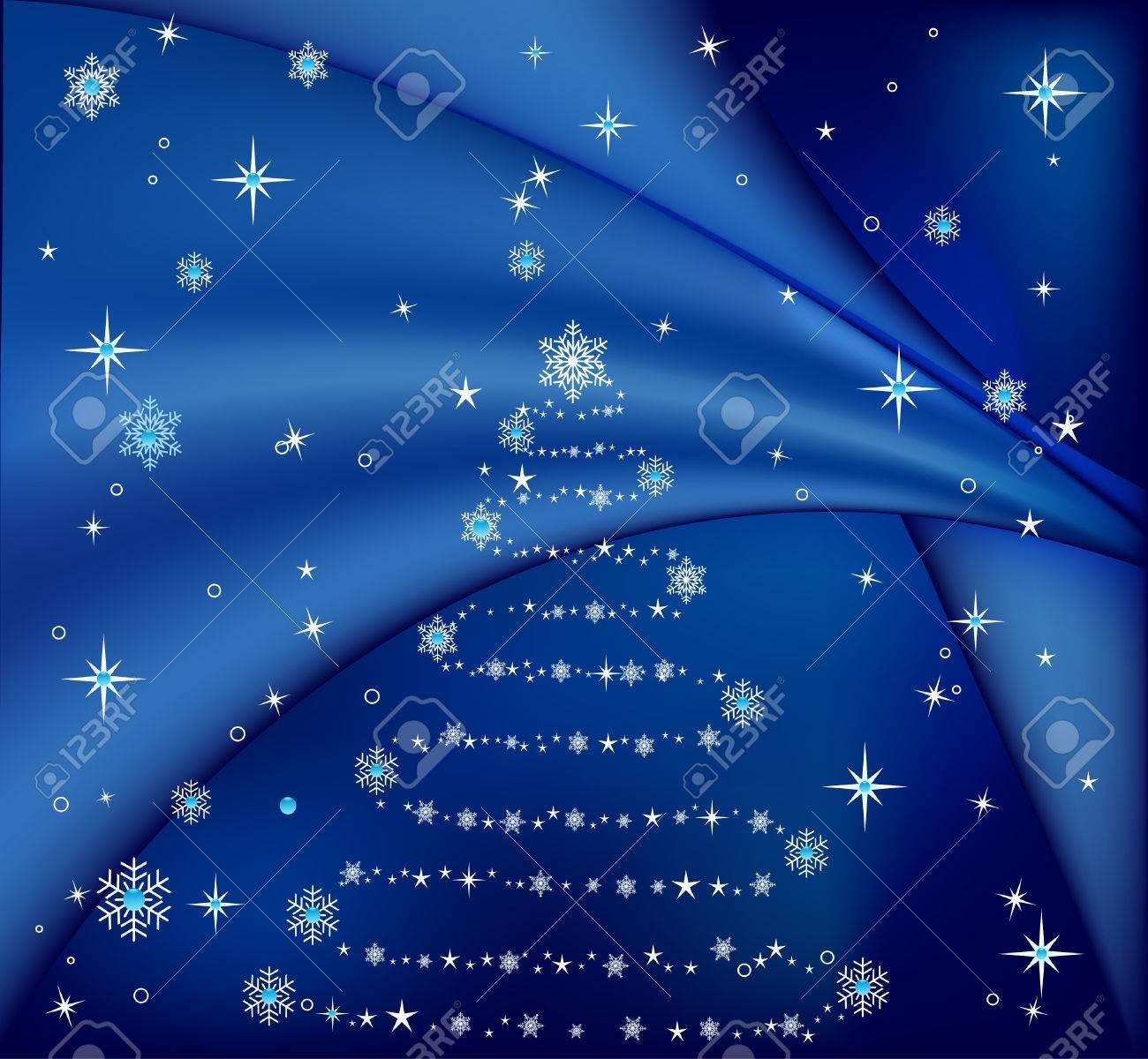 Vector abstract blue christmas tree  illustration Stock Vector - 1614981