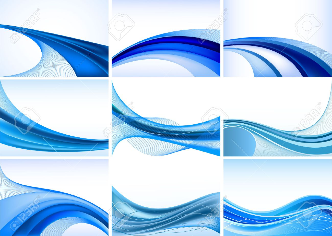 Abstract blue background vector set Stock Vector - 6206973