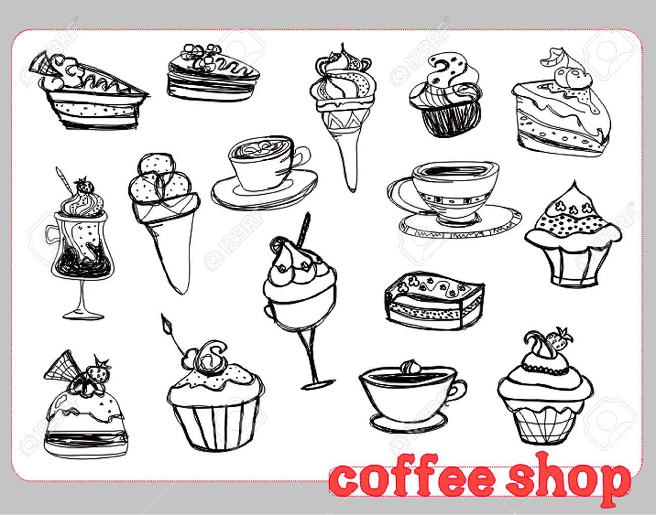 sweet dessert background Stock Vector - 8400814