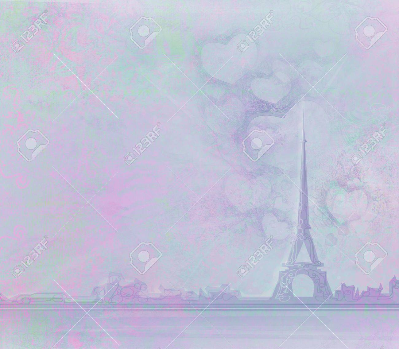The Eiffel Tower old paper textures Stock Photo - 8986062