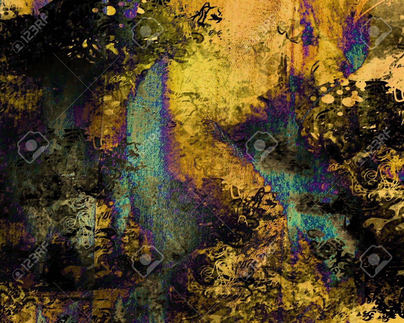 Grunge paint blots background Stock Photo - 9221031