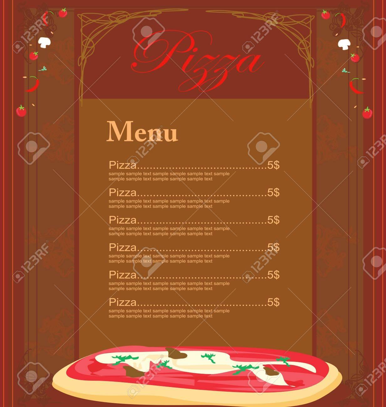 Pizza Menu Template Stock Vector   11277120