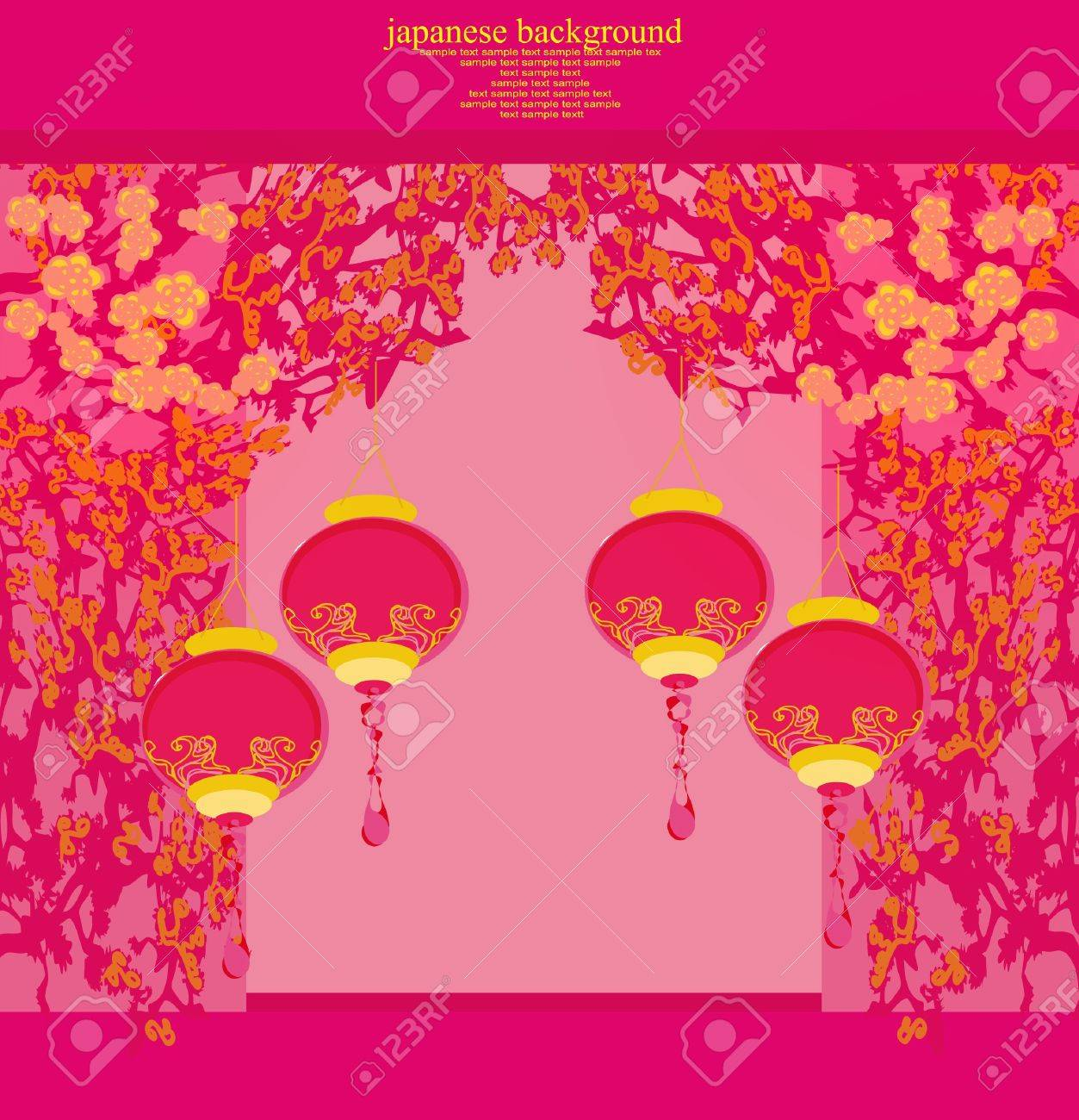 Chinese New Year card, Stock Vector - 12162306