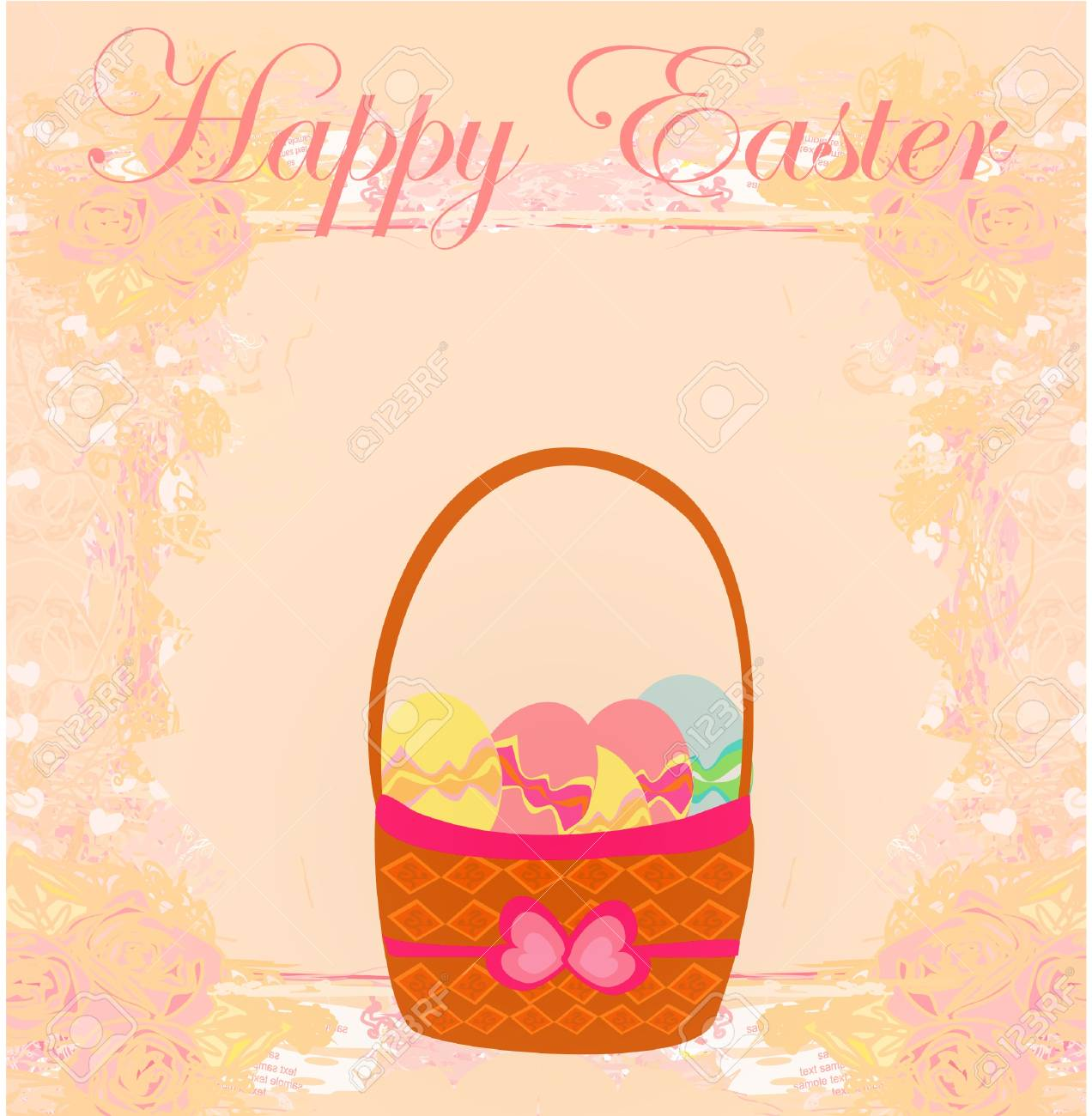 happy easter border. Stock Vector - 12459934