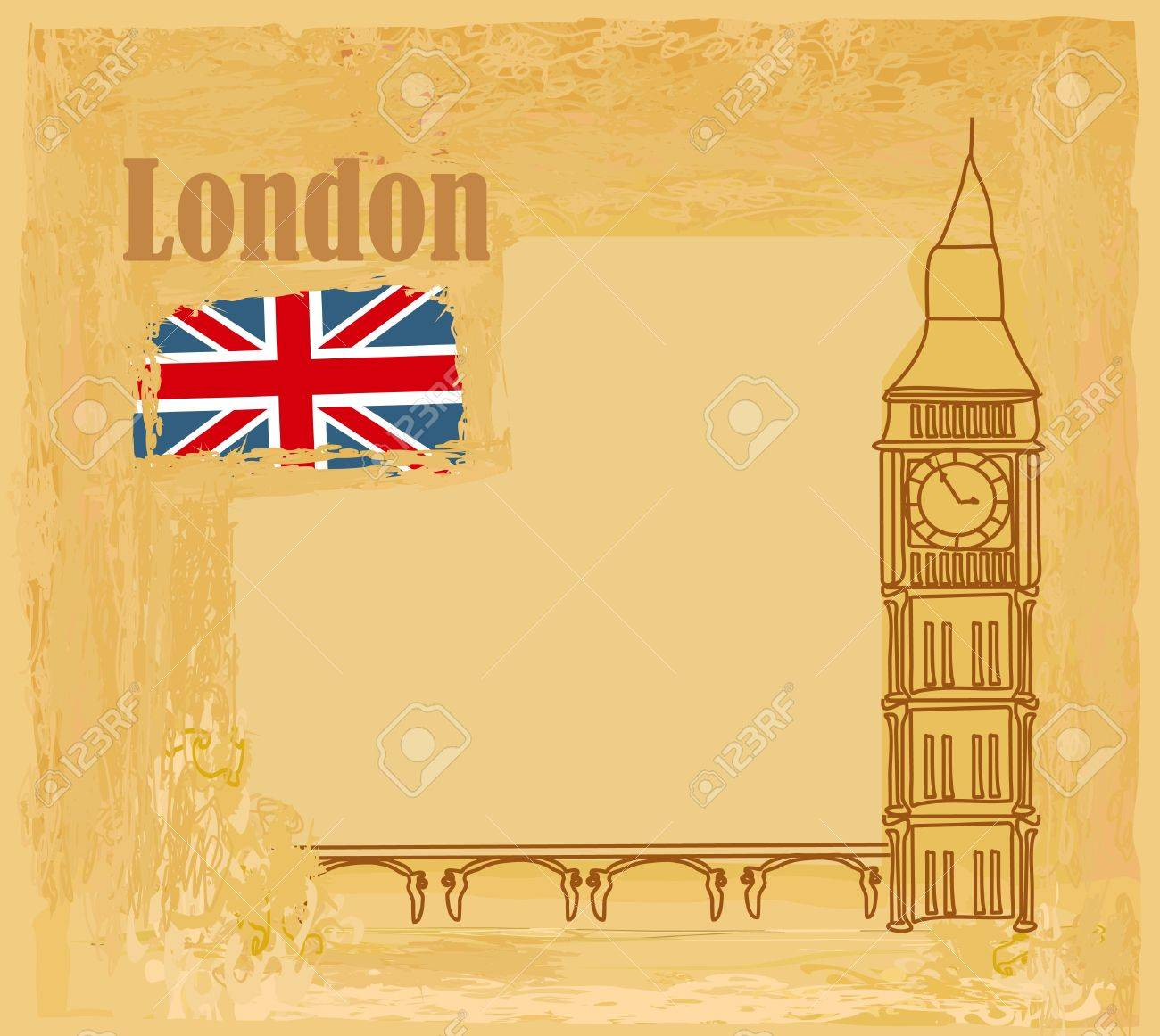 Grunge banner with London Stock Vector - 12744026