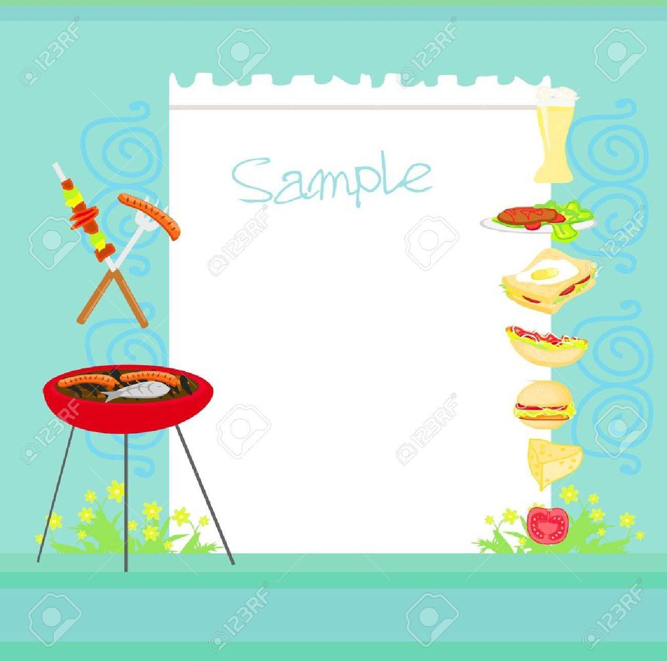 grill party-einladung lizenzfrei nutzbare vektorgrafiken, clip, Einladungen