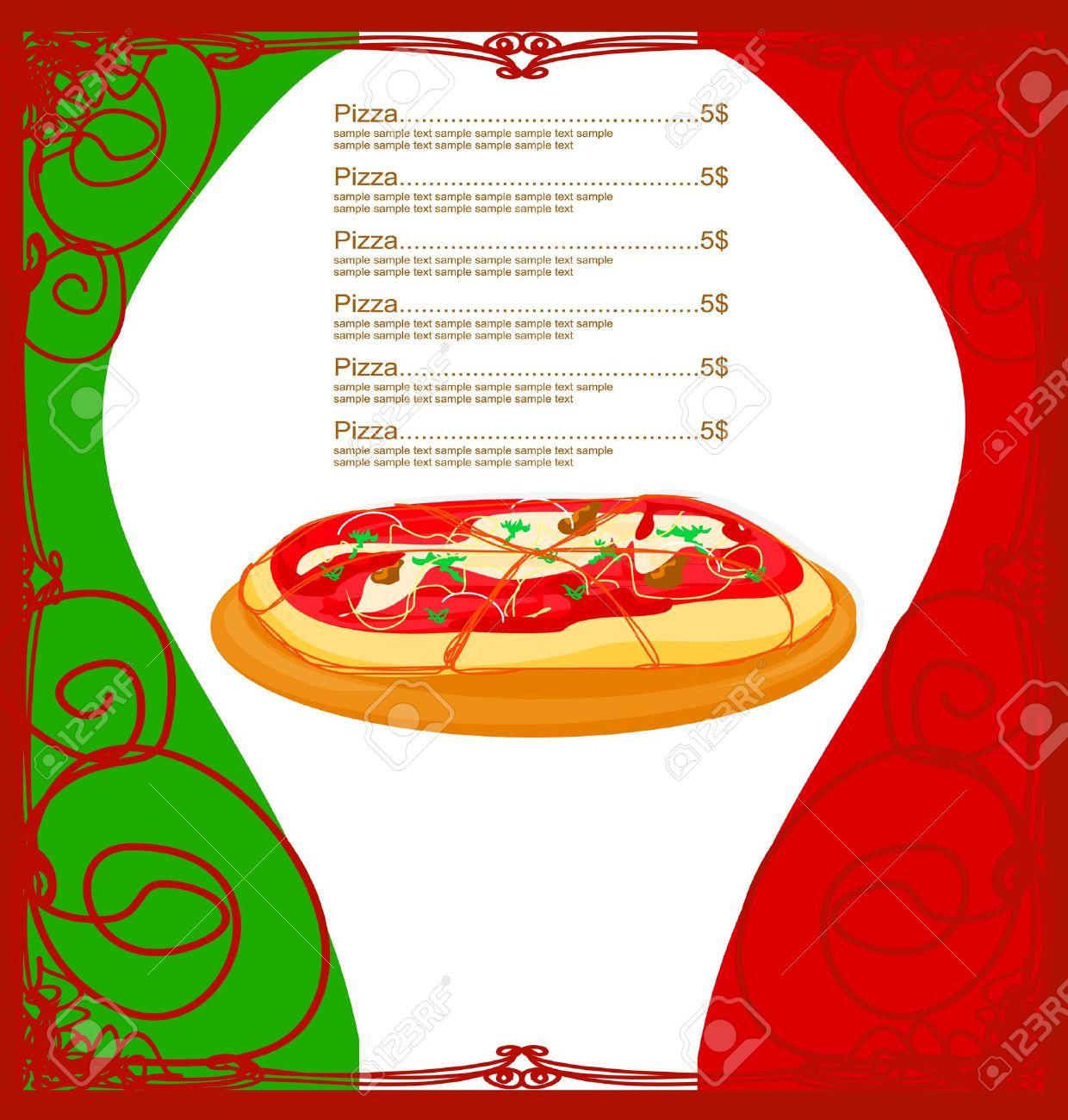 Pizza Menu Template Stock Vector   12744411