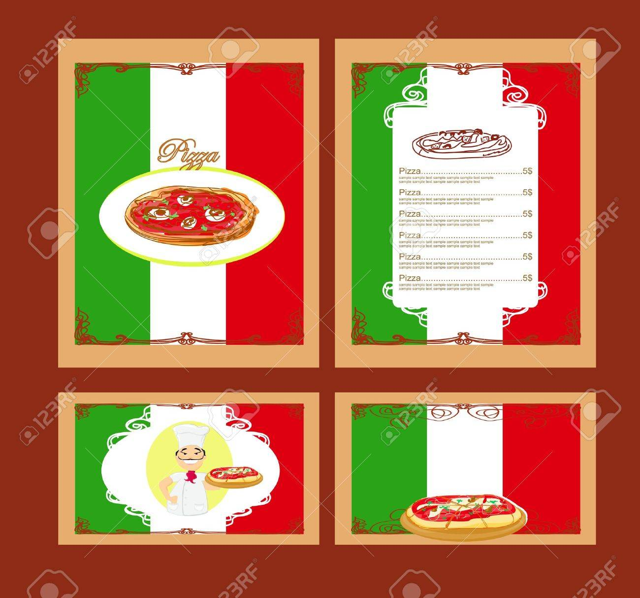 Pizza Menu Template Set Royalty Free Cliparts Vectors And – Sample Pizza Menu Template