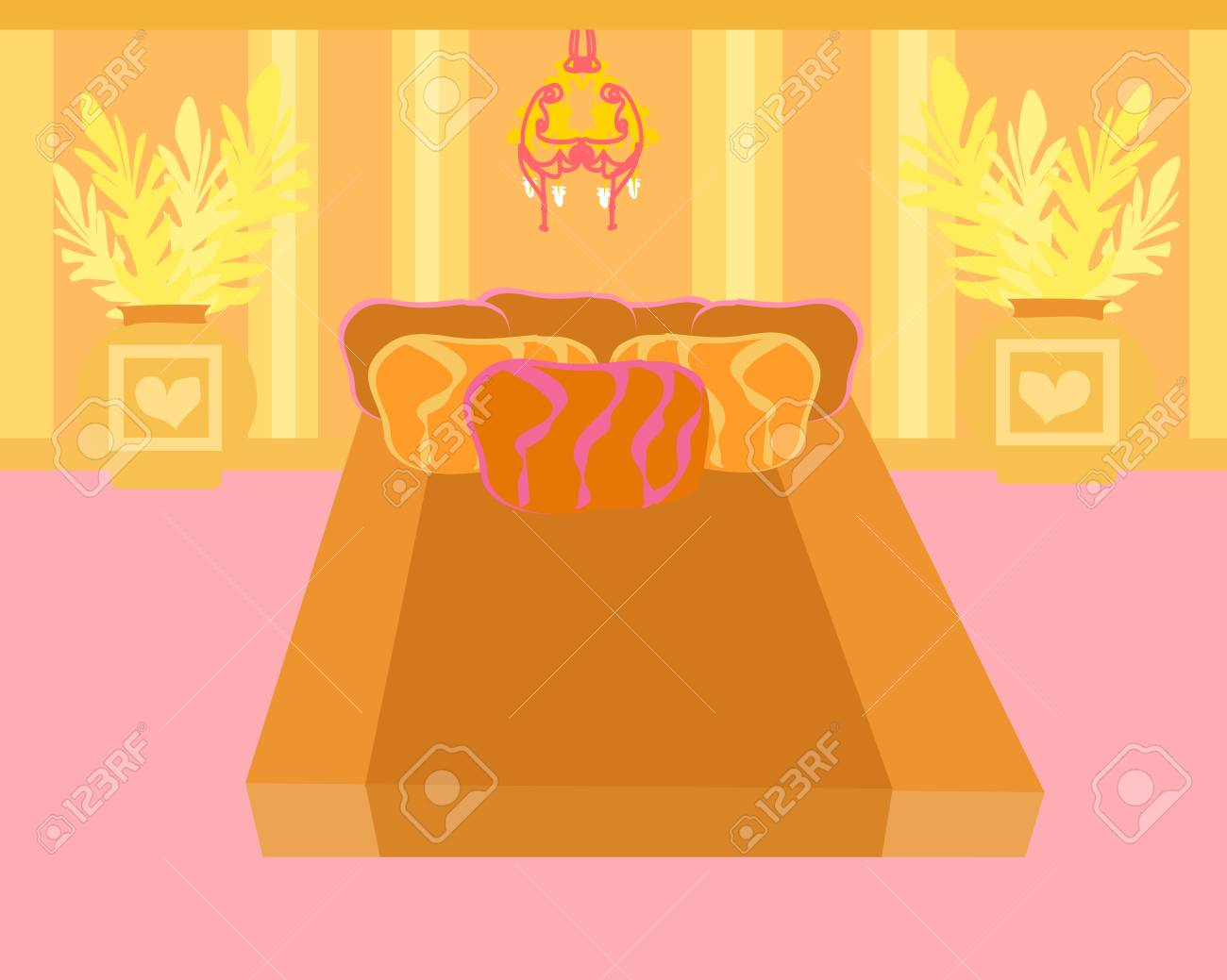 Bedroom interior vector Stock Vector - 12744447