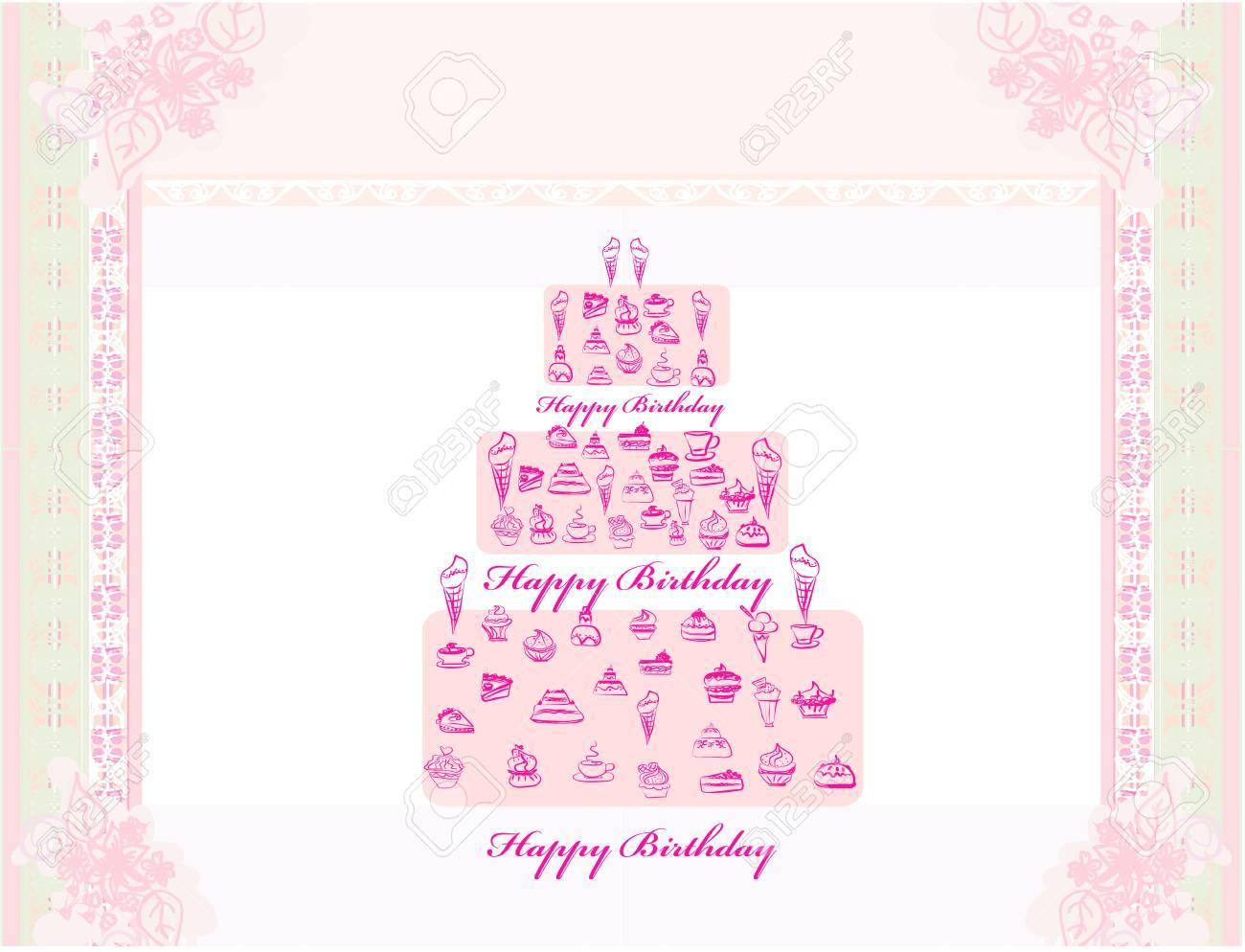 Happy Birthday Card Stock Vector - 13254155