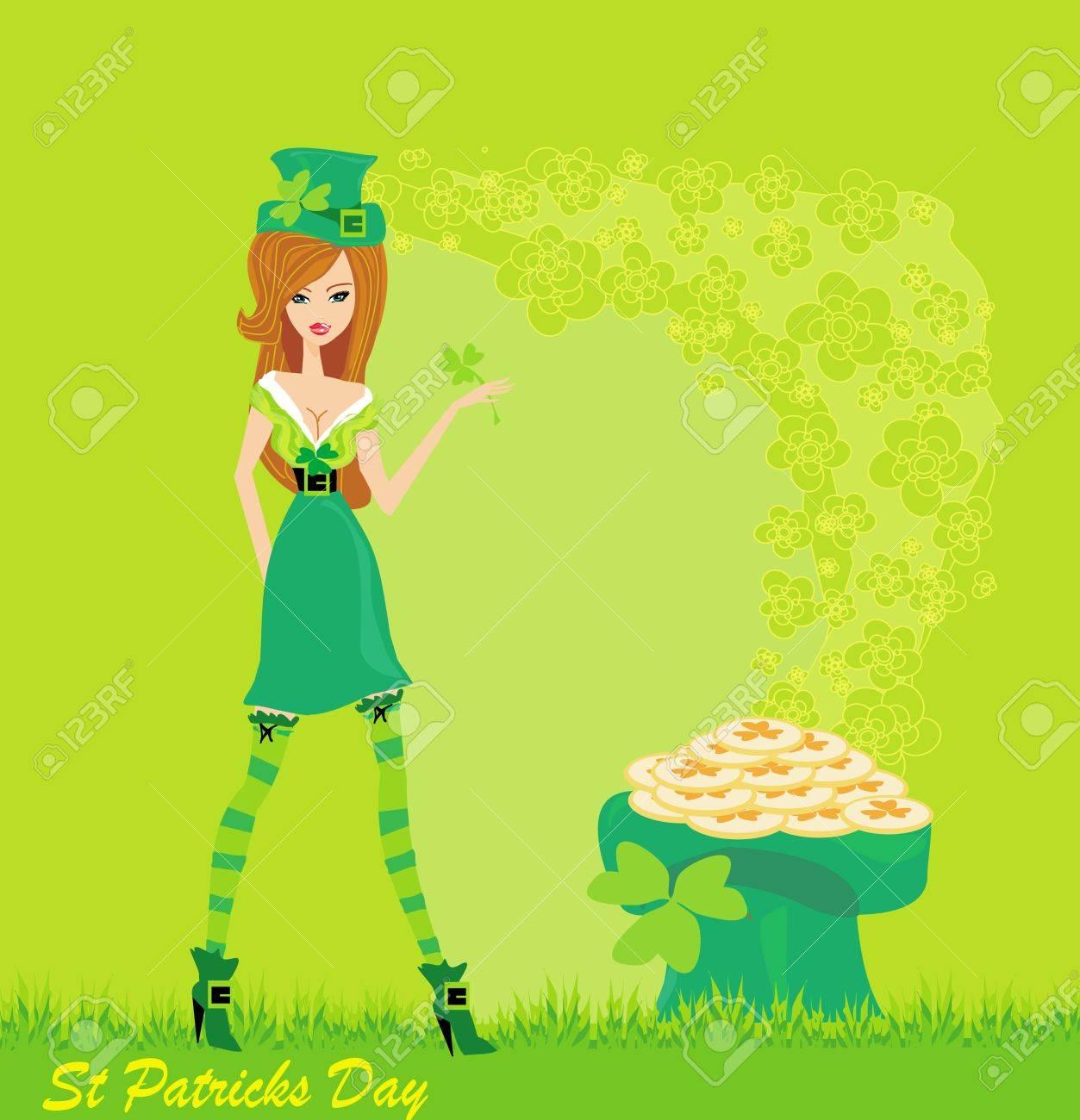 sexy leprechaun girl Stock Vector - 13578761