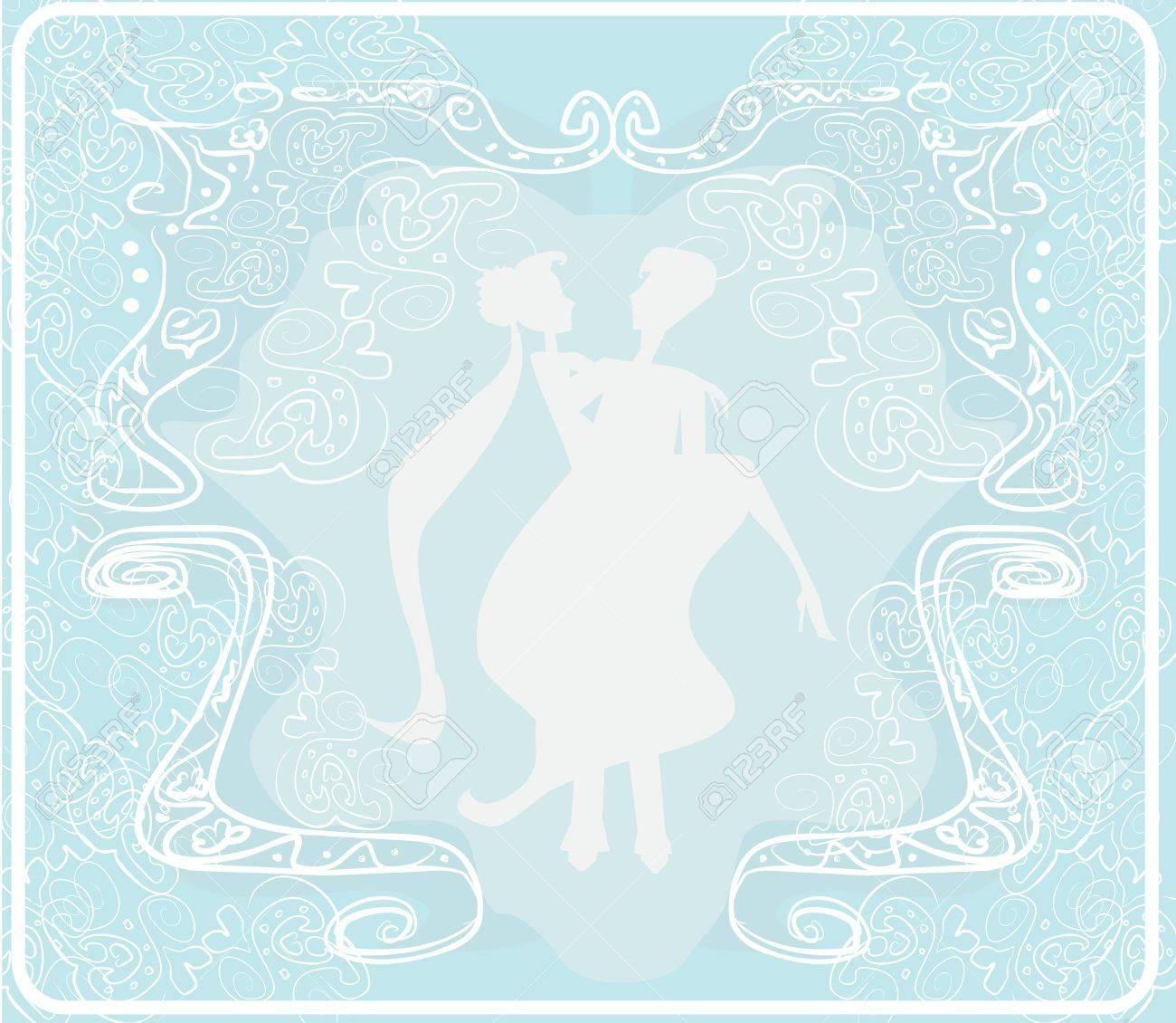 wedding  couple background Stock Vector - 13662455