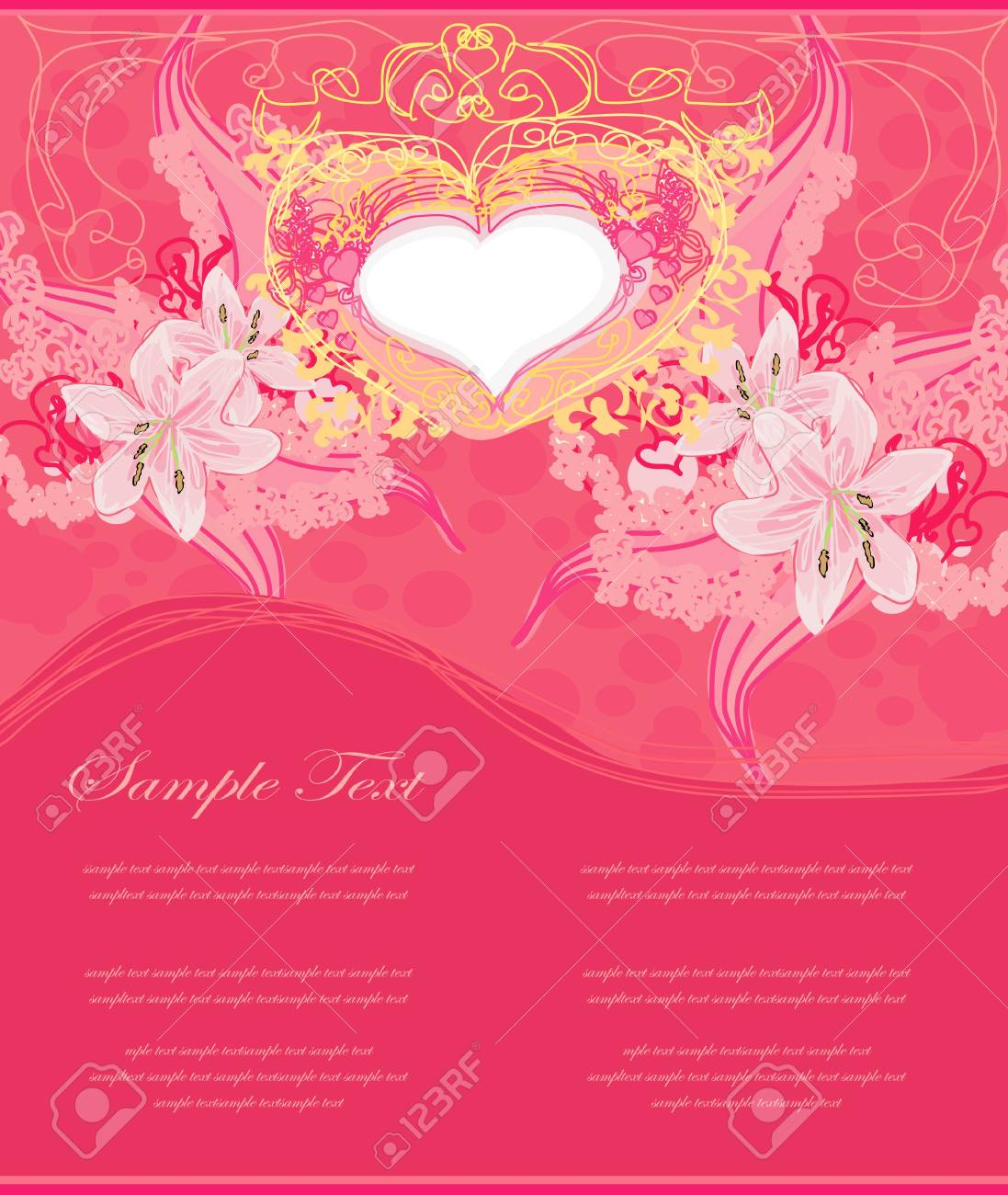 Valentines Day Greeting card Stock Vector - 13766778