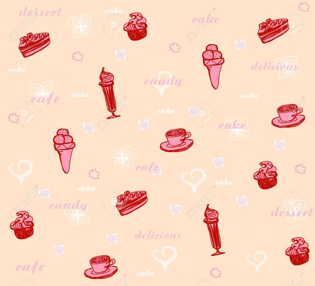 sweet dessert background Stock Vector - 13815710