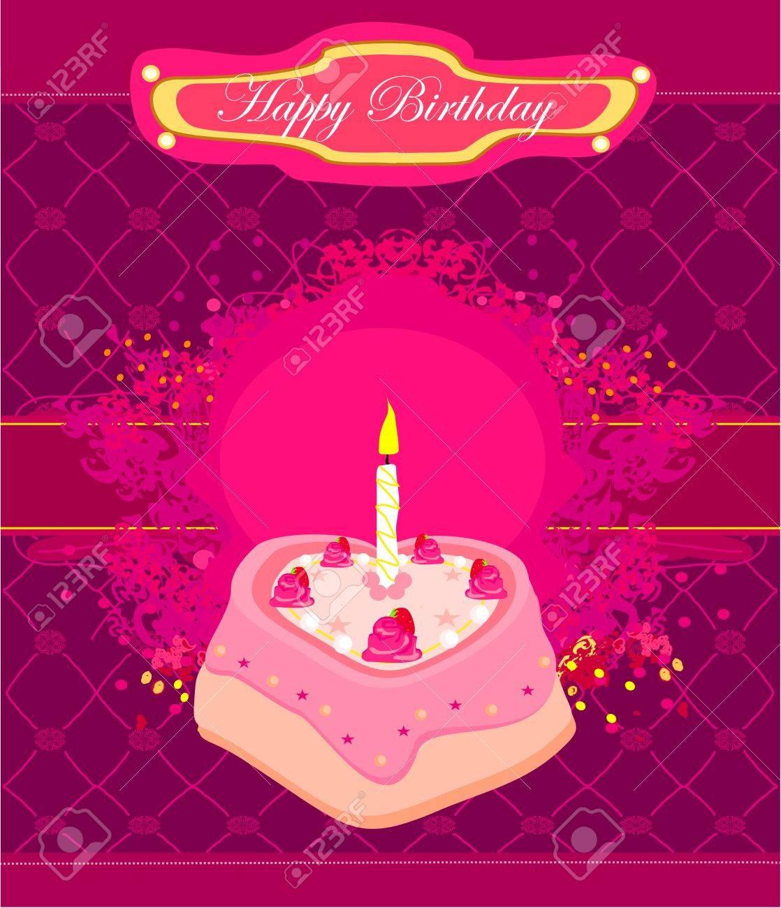 Happy Birthday Card Stock Vector - 13909917