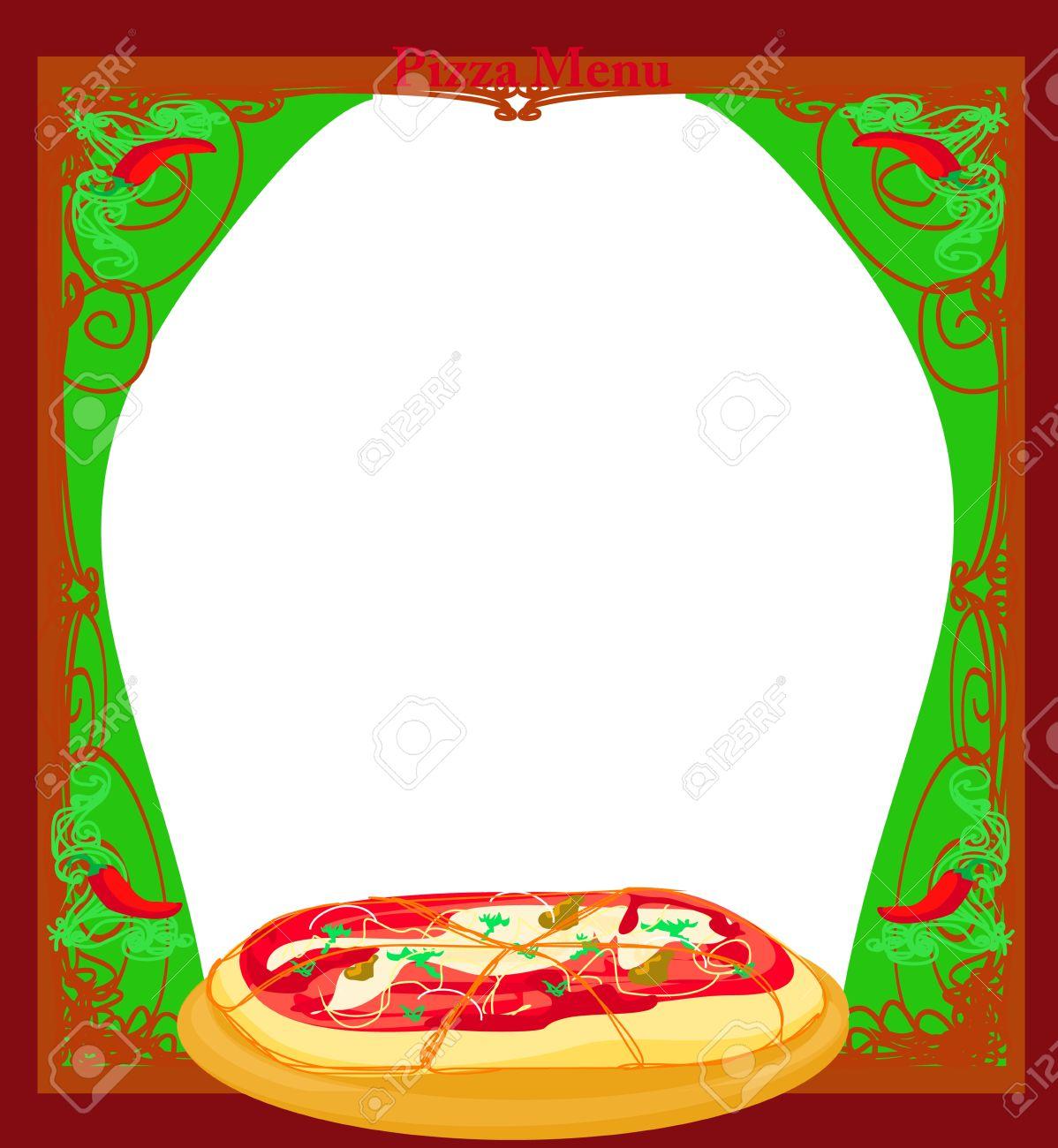 Pizza De Plantillas De Menú Ilustraciones Vectoriales, Clip Art ...