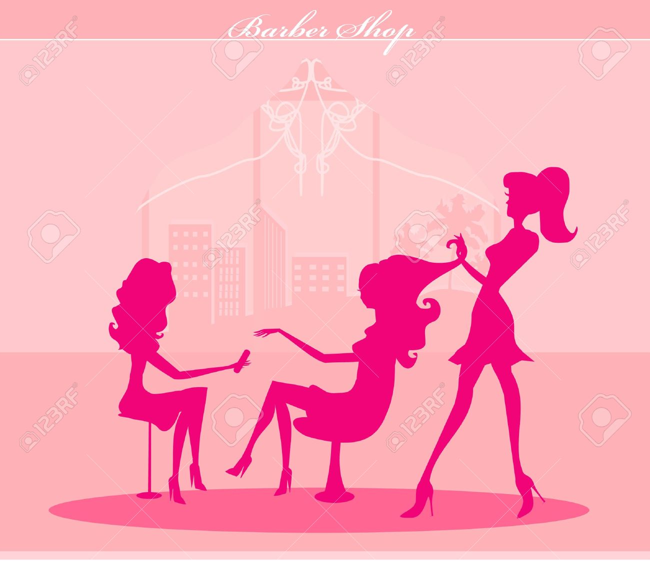 illustration of the beautiful woman in beauty salon Stock Vector - 14057136