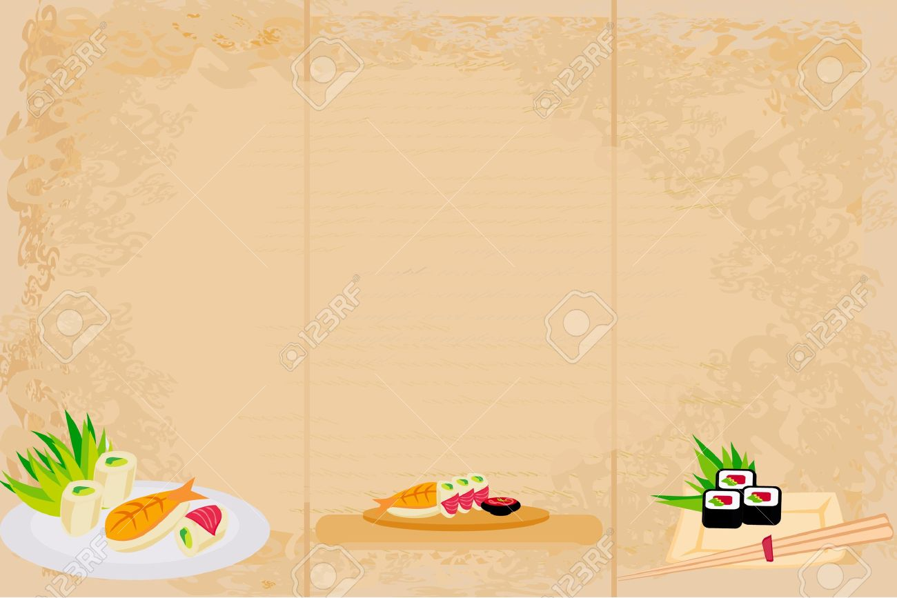 template of traditional Japanese food menu Stock Vector - 14248115