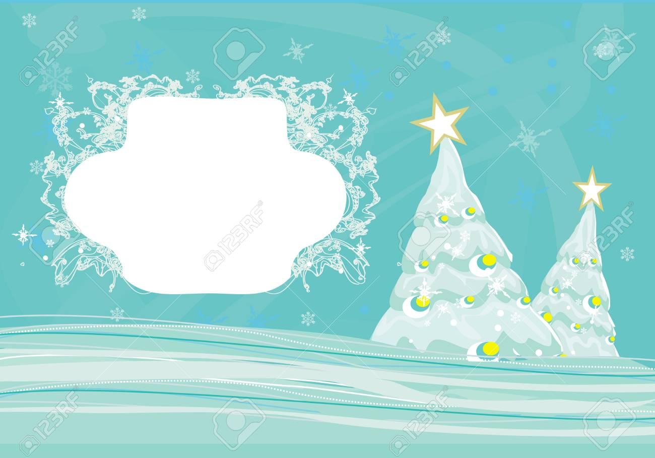 Abstract christmas tree card Stock Vector - 14812255