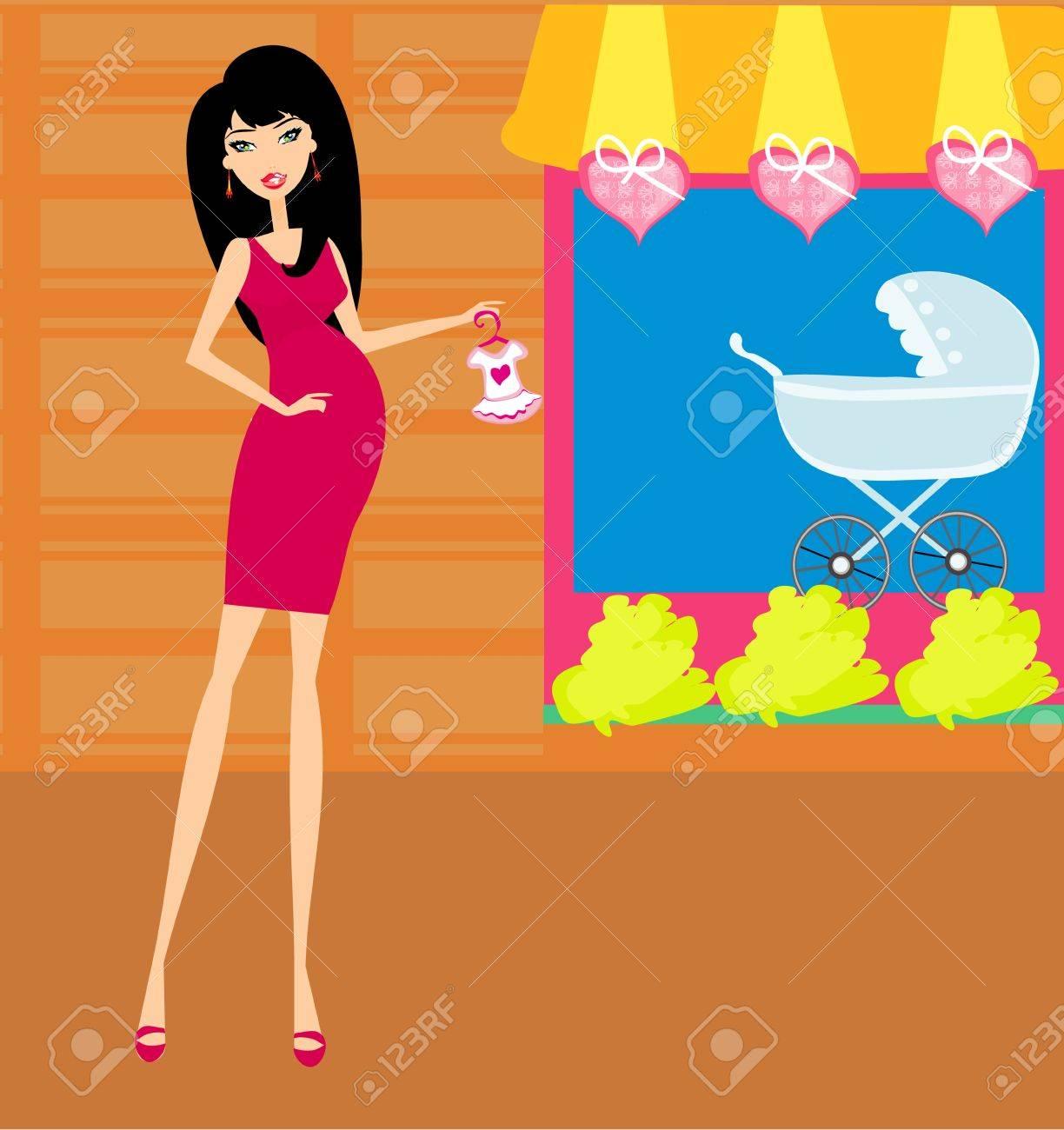 beautiful pregnant woman Stock Vector - 15197913