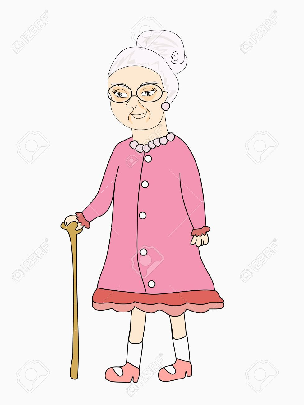 old lady Stock Vector - 15029904