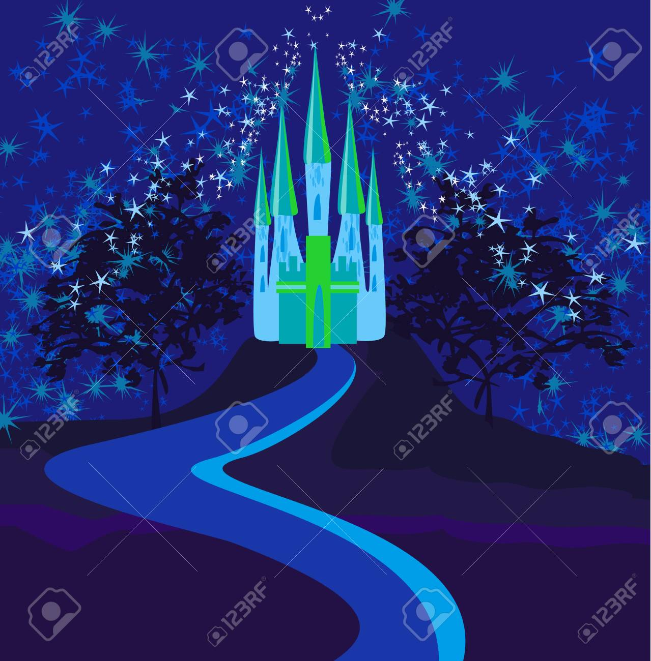 Magic Fairy Tale Princess Castle Stock Vector - 15029918